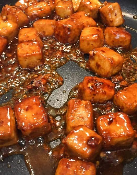 vegan general tso tofu cooking sauce