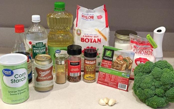general tso tofu vegan ingredients