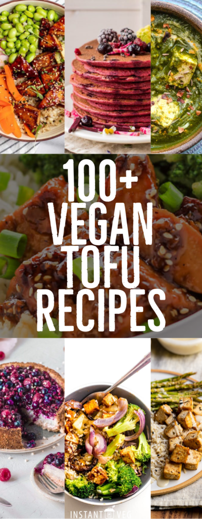 vegan tofu recipes collage