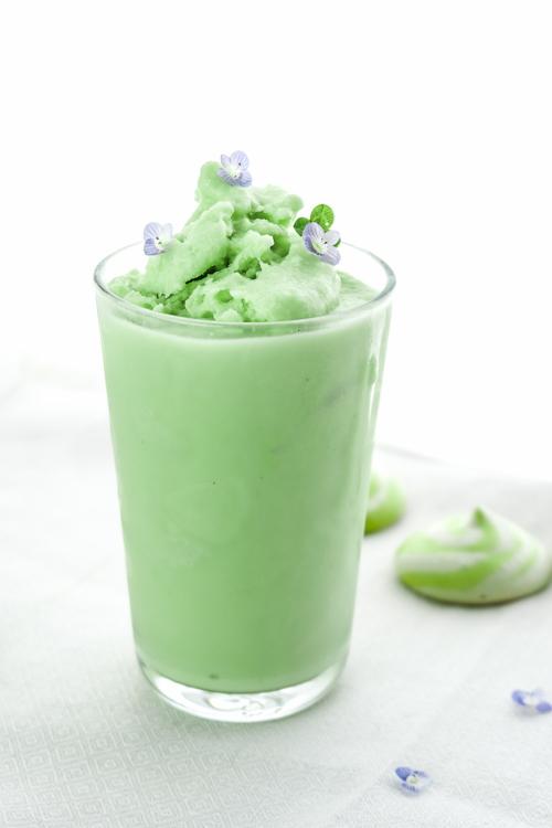 Vegan Shamrock Shake Copycat Mint Milkshake