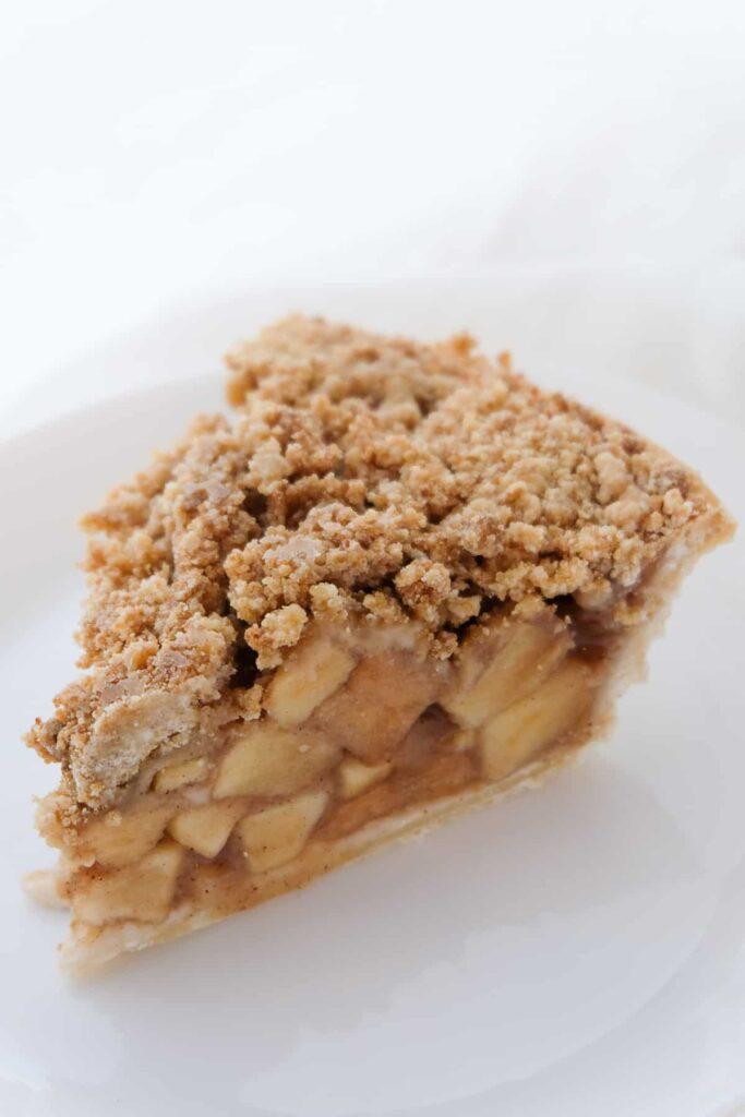 A slice of the best Vegan Apple Pie ever.
