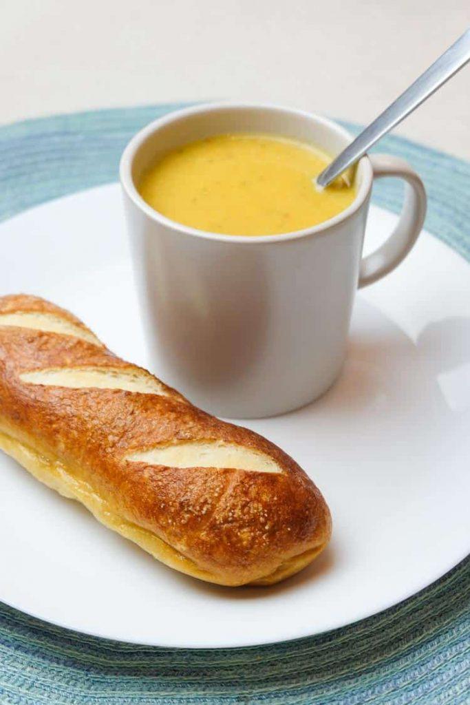 vegan broccoli cheese potato soup