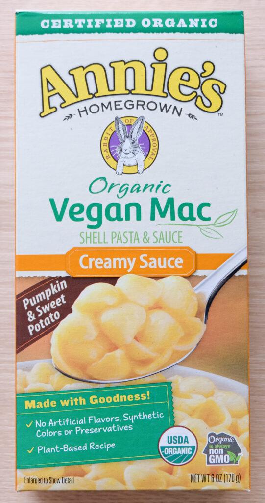 Annie's Creamy Sauce (shells) Vegan Mac Box