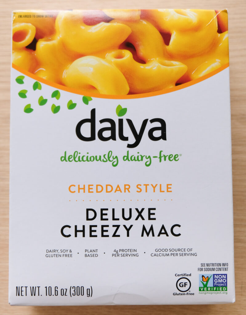 Daiya Deluxe Cheezy Mac Cheddar Style Box (vertical orientation)