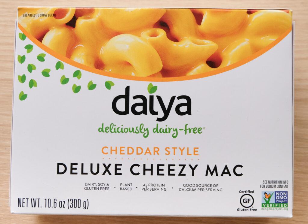 Daiya Deluxe Cheezy Mac Cheddar Style Box (horizontal orientation)