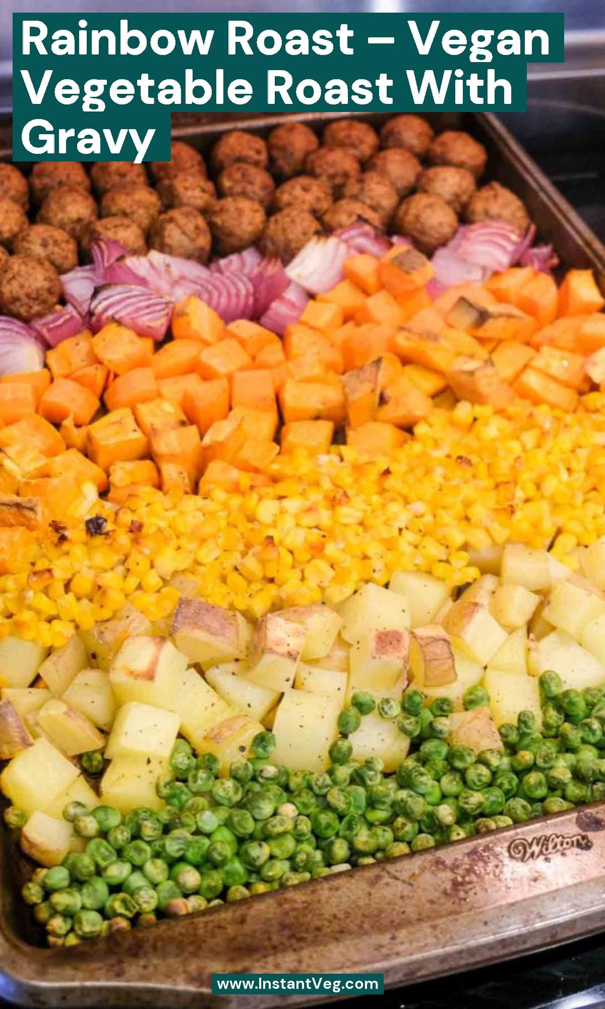Rainbow Roast – Vegan Vegetable Roast with Gravy